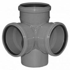 Крестовина для внутренней канализации двухплоскостная 110*110*110 /87,5˚