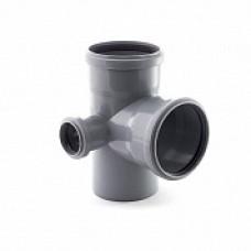 Крестовина внутренней канализации двухплоскостная 110*110*50 /87,5˚ левая