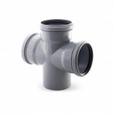 Крестовина внутренней канализации одноплоскостная 110*110*110 /87,5˚