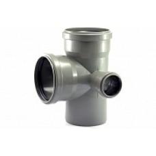 Крестовина внутренней канализации двухплоскостная 110*110*50 /87,5˚ правая