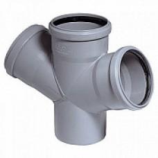 Крестовина внутренней канализации одноплоскостная 110*110*110 /45˚