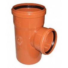 Тройник для канализации ПВХ 110*110*87 наружный