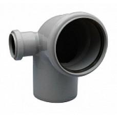 Отвод внутренней канализации 110х90˚ с выходом 50 правый