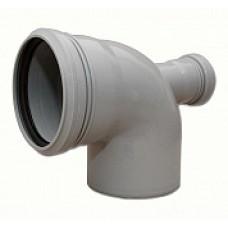 Отвод внутренней канализации 110х90˚ с выходом 50 фронтальный