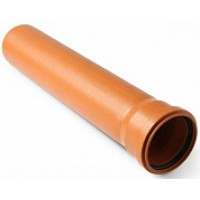 Труба для наружной канализации НПВХ 110 мм, стенка 3,2 мм, длина 2000 мм