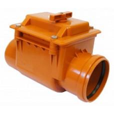 Обратный клапан для канализации ПВХ 110 наружный