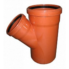 Тройник для канализации ПВХ 110*110*45 наружный