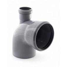 Отвод внутренней канализации 110х90˚ с выходом 50 прямой
