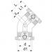 Отвод 45° +GF+ ПЭ 100 Dn 50 SDR11